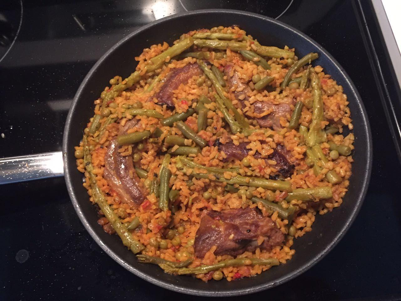 Arroz con costillejas y verduras la cocina de tendencias - Arroz con verduras light ...